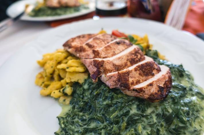 Chicken, Corn & Spinach