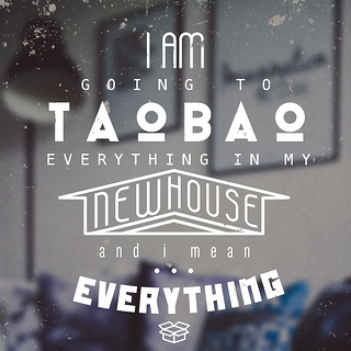 """I'm going to Taobao everything in my new house. And I mean EVERYTHING."""