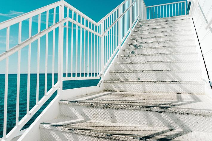 Pictures of stairs by the ocean