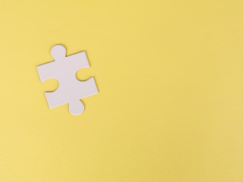 A single puzzle piece