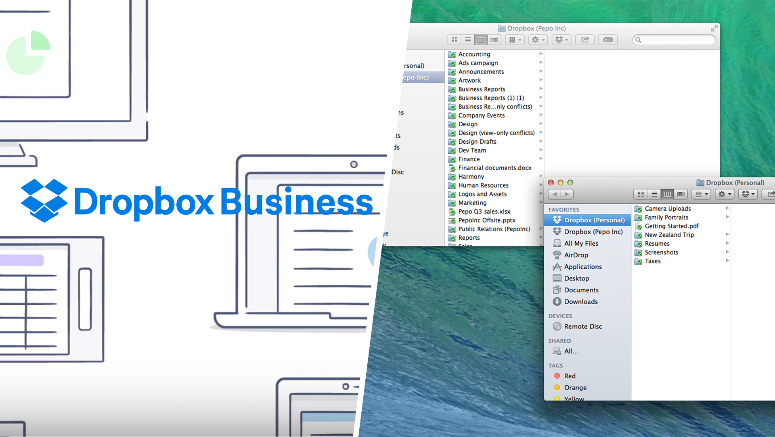 Dropbox Logo and Screenshot
