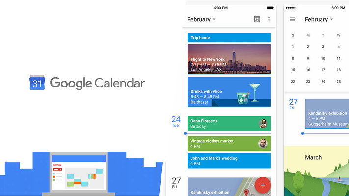 Google Calendar Logo and screenshots