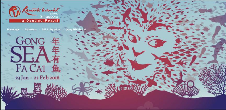 screenshot from Resorts World Sentosa CNY campaign website