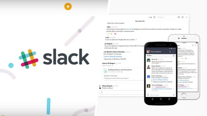 Slack logo and screenshot