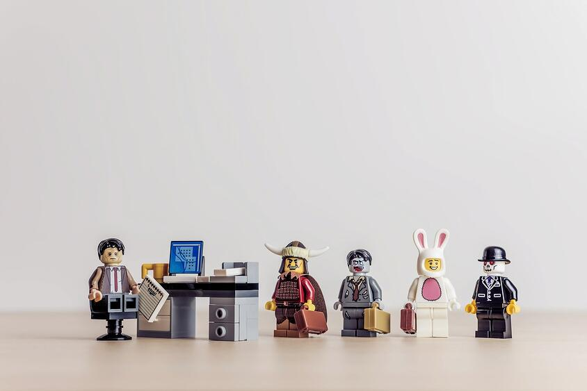 Lego figures in different costumes