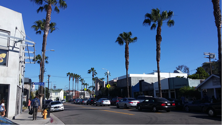 Abbot Kinney Blvd in Venice, California (Photo: Michelle Tan)