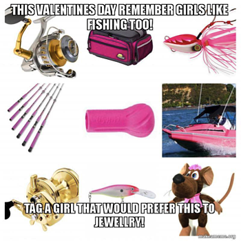 meme for iFish Tackleworld for Valentine's Day Campaign