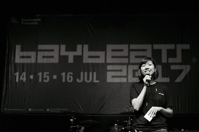 Hosting at Baybeats 2017 (photo: Hoong Wei Loong)
